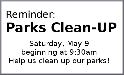Parks Clean-up business card Ad