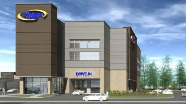 Storage company Dymon is looking to build a 12th facility in Ottawa, this time on Clyde Avenue. (Fotenn for Dymon)